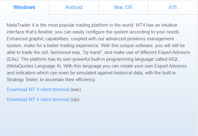 MT4 Terminal Download